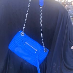 Steve Madden Envelope Crossbody Blue Clutch Bag